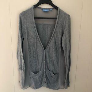 Simply Vera Vera Wang - Knit + Sheer Cardigan - L